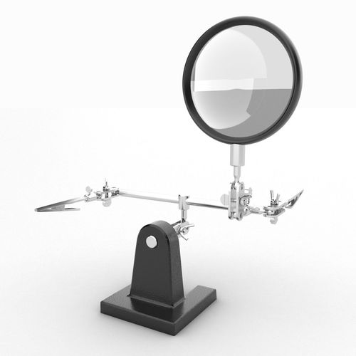 hand magnifying glass 3d model low-poly max obj mtl 3ds fbx 1