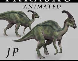 animated Parasaurolophus 8192 HD - 3d animated model