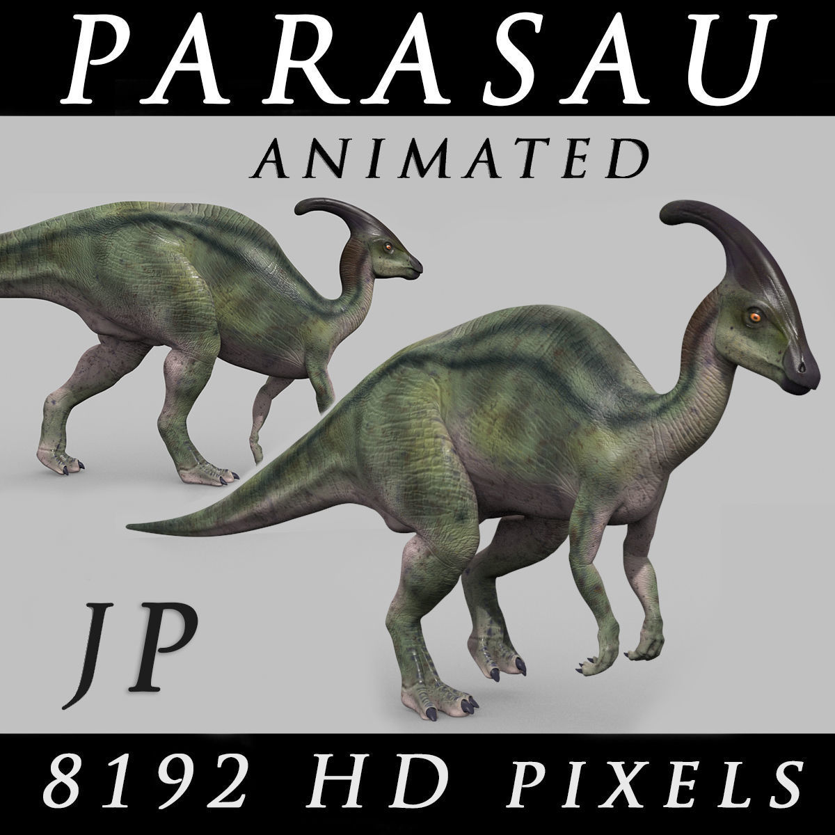 Parasaurolophus 8192 HD - 3d animated model