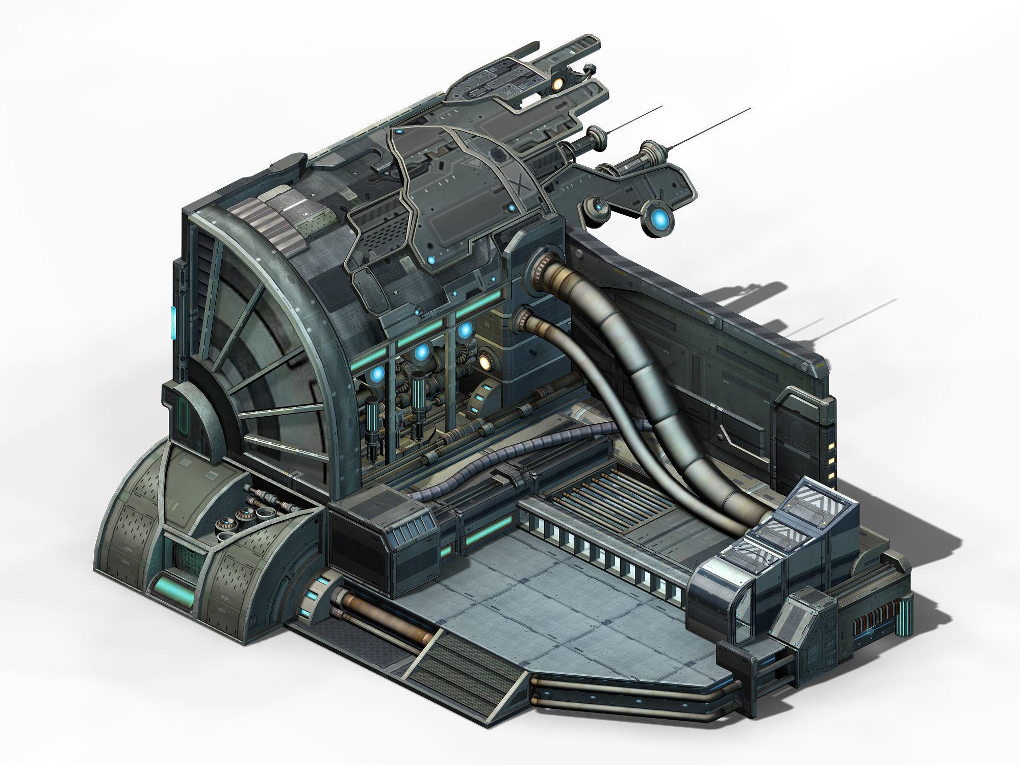 Spaceship - interior wall 05