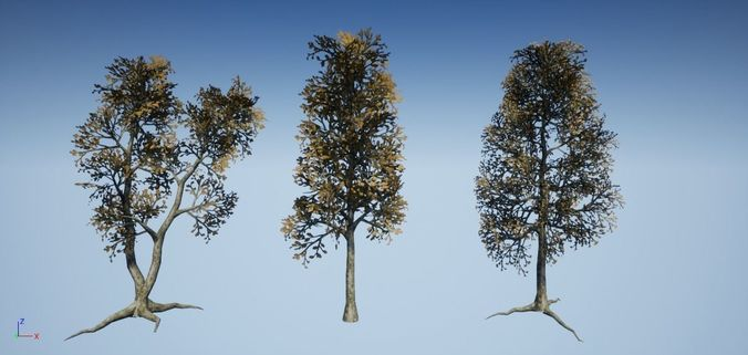 dead tree optimized collection 3 3d model low-poly fbx tga 1