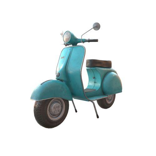 vintage scooter 3d model low-poly max obj mtl fbx dae 1