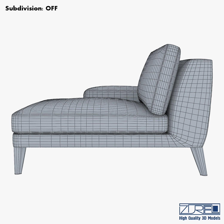 Roche Bobois Playlist Large 3 Seat Chaise 3D model MAX OBJ MTL FBX