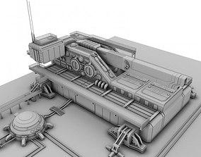 Heavy sci-fi cannon 3D