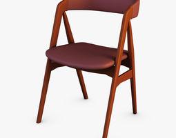 danish teak classics chair 3d model