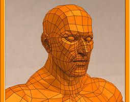realistic male muscle set - 02 3d model max obj 3ds fbx stl dae