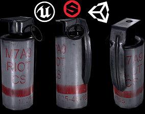 smoke Grenade 3D asset low-poly