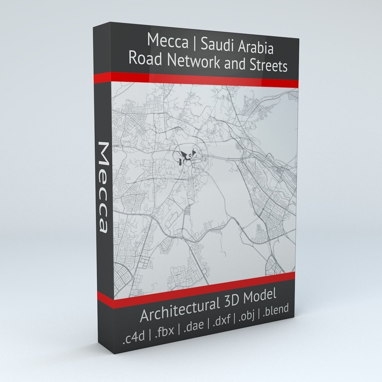 Mecca Road Network and Streets | 3D model