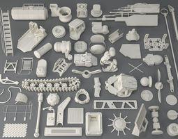 Kit bash - 56 pieces - collection-8 3D