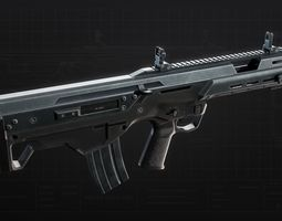 3D model MSBS 556B Assault Rifle