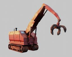 3D model Cartoon Crane