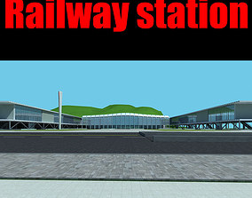 Railway station 3D model saint-petersburg