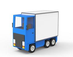 Cartoon freight car 2 3D asset