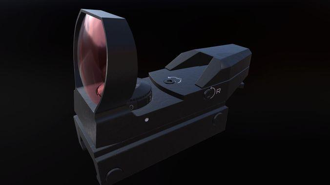 reflex sight scope 3d model max fbx tga spp tbscene tbmat 1