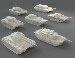 3D model Tanks - 7 pieces - part-2