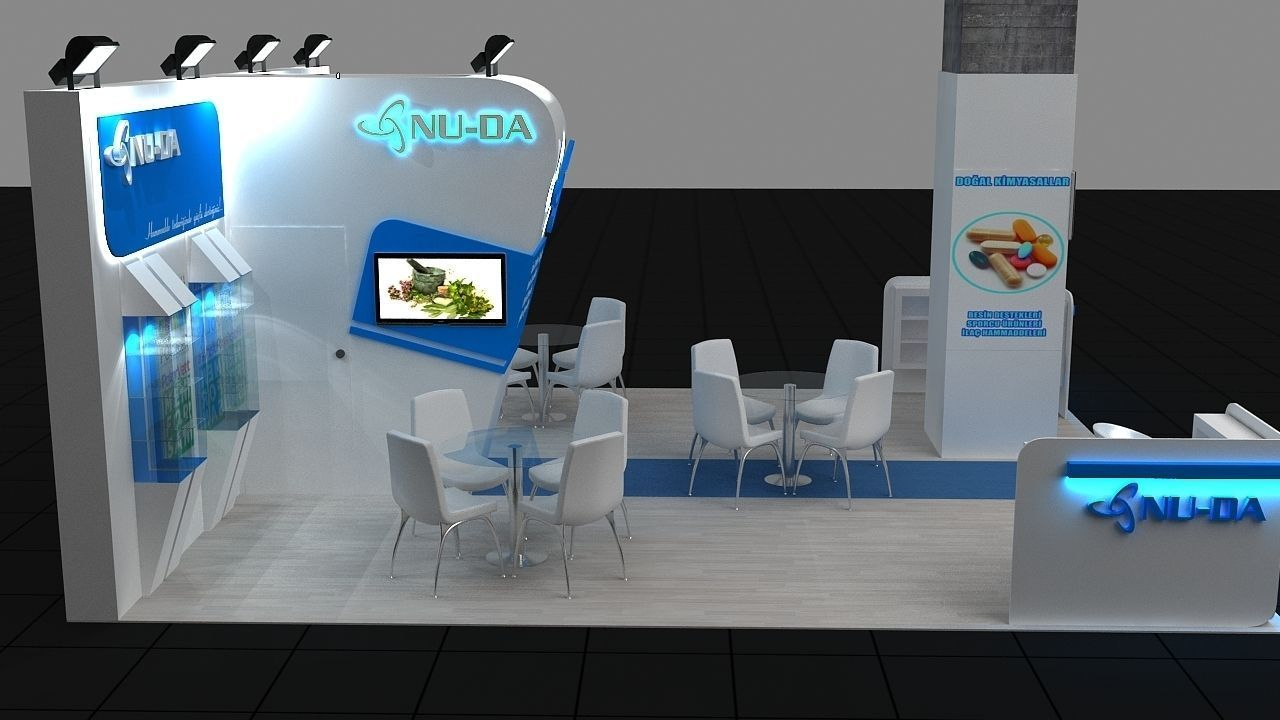 3d Exhibition Model : D exhibition stand model max cgtrader