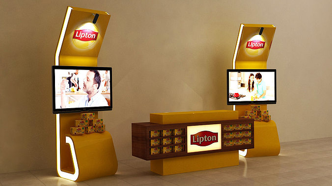 Exhibition Stand 3d Max : D display stand kiosk cgtrader