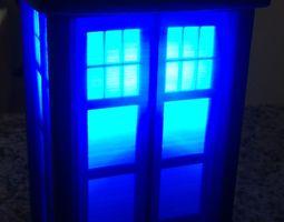 3d print model tardis lamp or circa 1960s london police call box