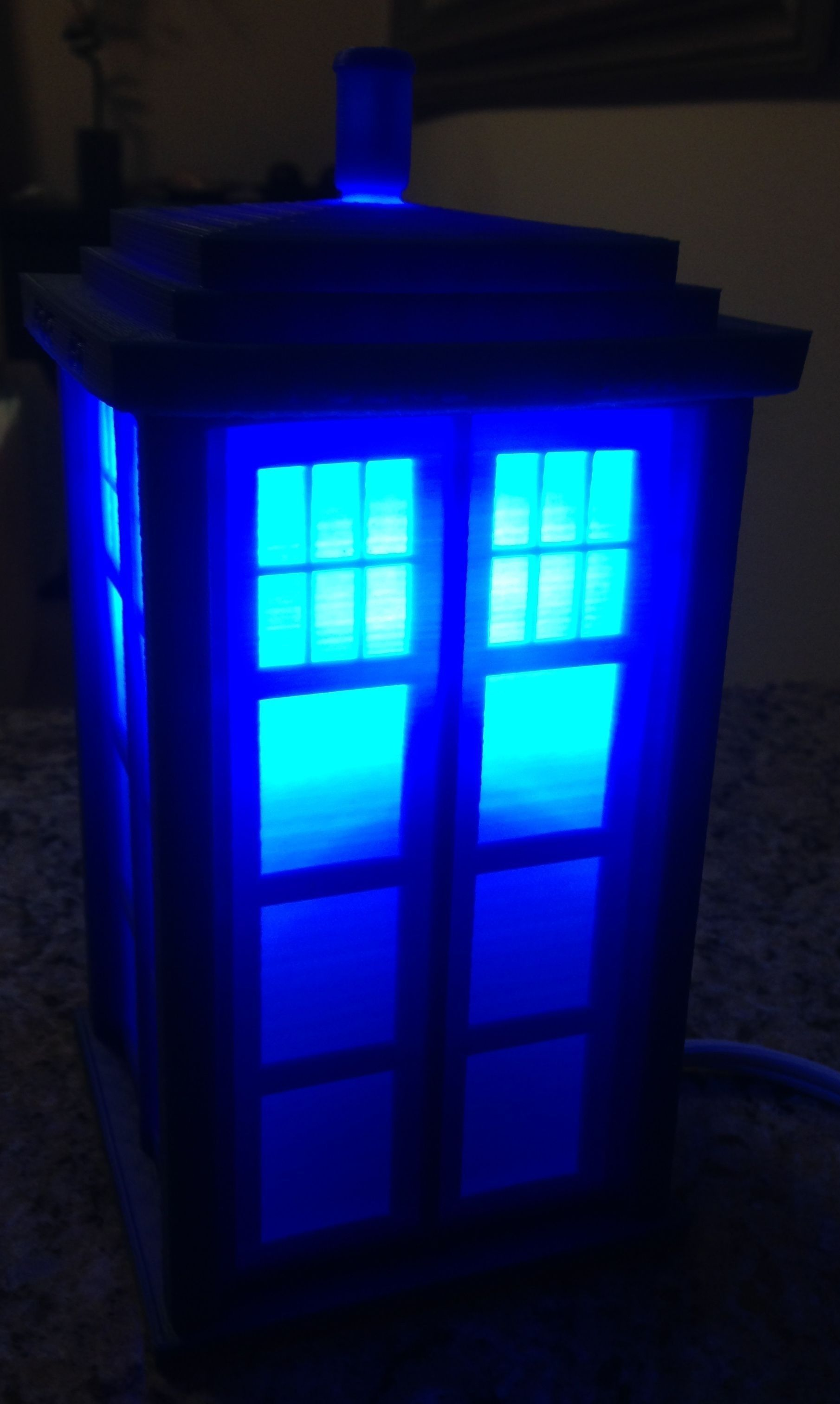 TARDIS Lamp or Circa 1960s London Police Call Box | 3D Print Model