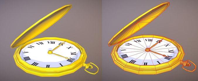 pocket watch 3d model low-poly fbx 1