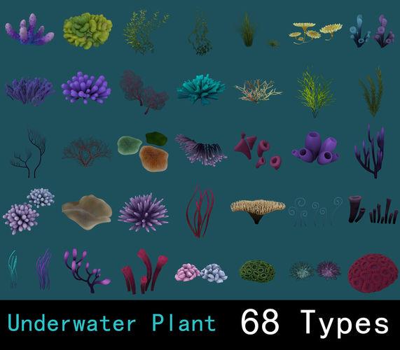 underwater plants collection 3d model obj mtl fbx ma mb tga 1