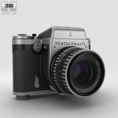 pentacon six tl 3d model max obj mtl 3ds fbx c4d lwo lw lws 1
