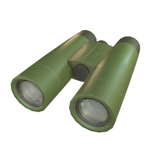binoculars 3d model low-poly max obj mtl fbx dae 1