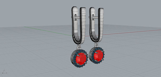 earrings laura  3d model stl 3dm 1