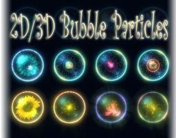 Bubble Particles 2D 3D game-ready