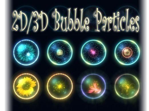 bubble particles 2d  3d 3d model unitypackage prefab 1