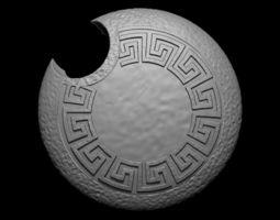 Simple Greek Inspired Roundshield for 3D print model
