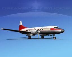 3D Convair CV-340 Private 2