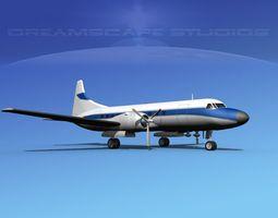 3D Convair CV-340 Private 3