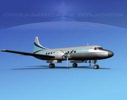 3D Convair CV-340 Private 4
