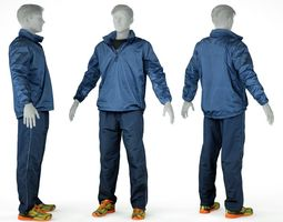 Male Sports Outfit 23 Trainer Footwear 3D asset