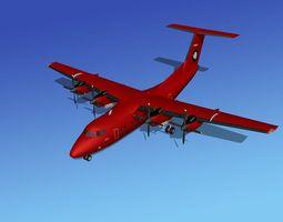 rigged dehavilland dhc-7 british antarctic team 3d model