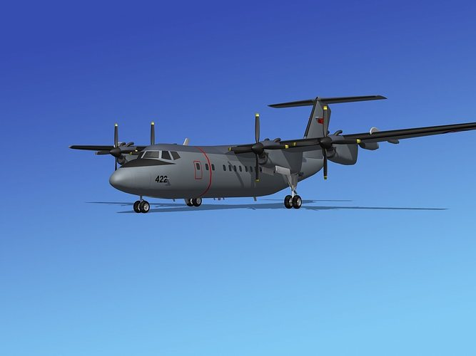 dehavilland dhc-7 canadian navy 3d model max obj 3ds lwo lw lws stl 3dm 1