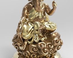 The Ganesh posture Give money 3D printable model
