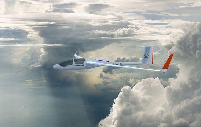 ash30mi glider 3d model obj mtl 3ds fbx stl blend skp 1
