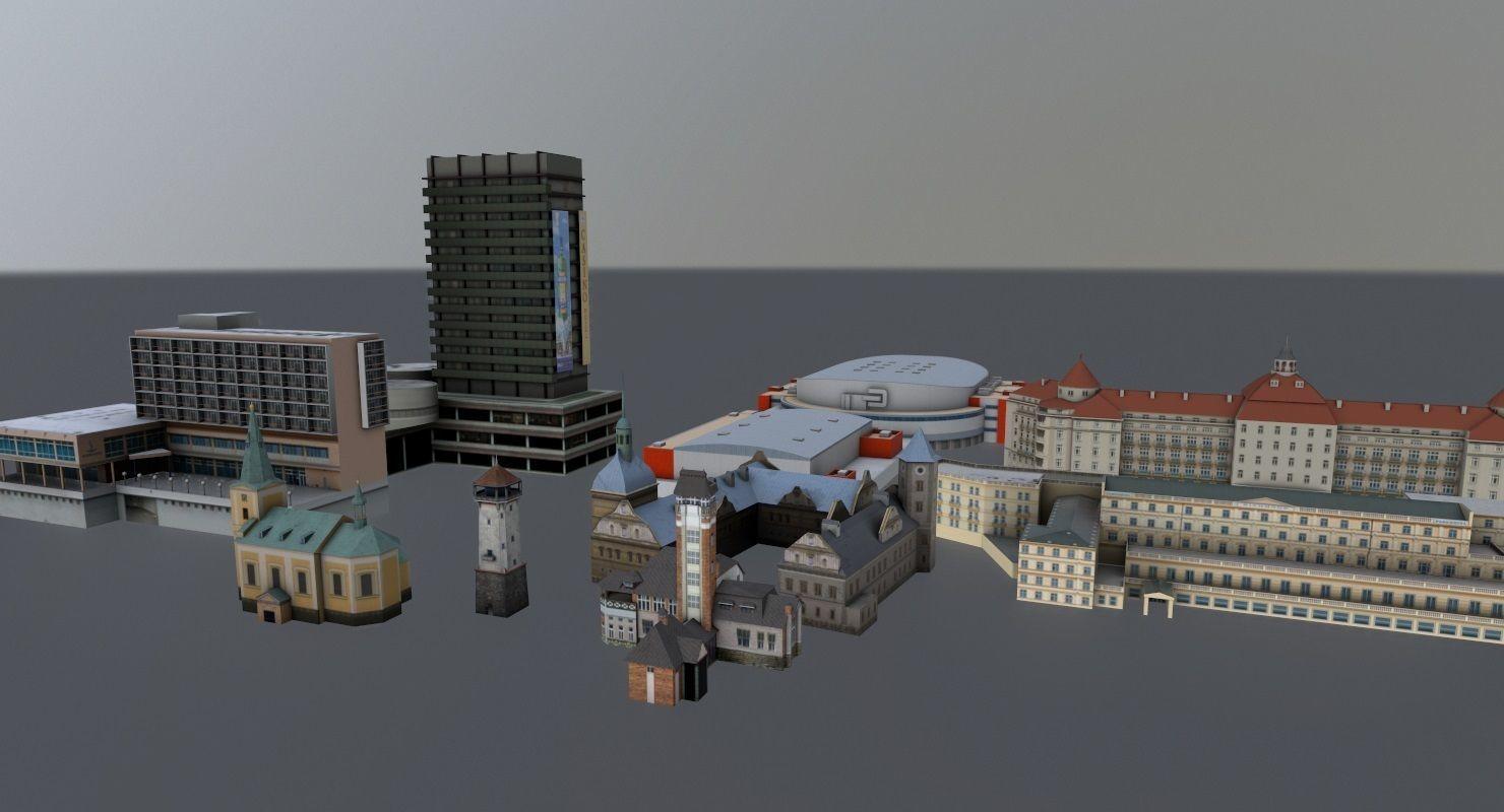 Karlovy Vary Buildings  Pack