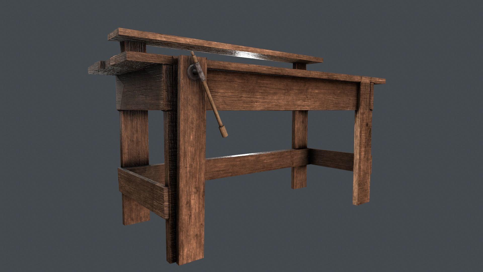 Sensational Lowpoly Workbench 3D Model Evergreenethics Interior Chair Design Evergreenethicsorg