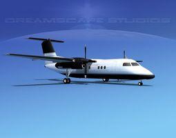 Dehaviland DHC-8 100 Executive Charter 3D model