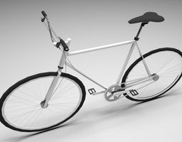 3D model low-poly Bicycle