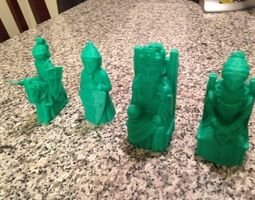 bishop 3D printable model Chess Set