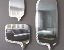 3D model Mirror Message LED