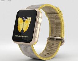 Apple Watch Series 2 38mm Gold Aluminum Case 3D model 2