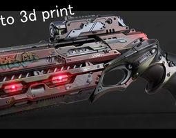 Sci fi gun ready to print 3D printable model