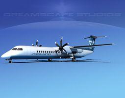 Dehaviland DHC-8 400 Universal Charter 3D model