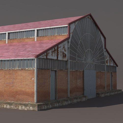 Factory Hangar Low Poly 3d Model