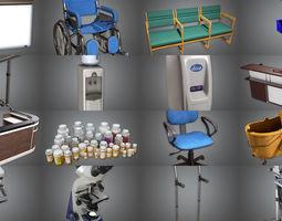 3D model Modern Hospital Props COMBO ULTRA SET